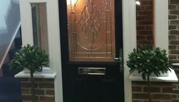 Porch with Black Composite Door