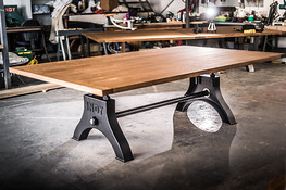 Indy Table in Black with Solid Oak Hard Wax Oil Finish