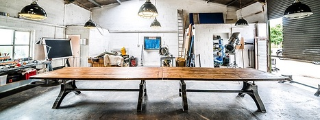 Indy Refectory Dining Table with Reclaimed Pine Top Wax Finish