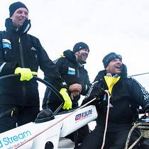 Warm racing clothing is a must in the Baltic