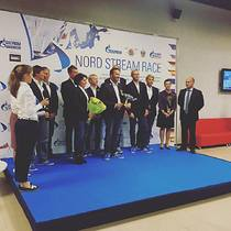 Tim Kroger and his Spirit of Europe team presented the 2015 Nord Stream trophy in St Petersburg