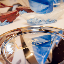 Gazprom Swan 60 circuit winners awarded the winning plate in St Petersburg