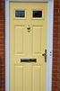 Yellow Composite Front Door