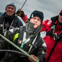 Vyatcheslav Martynov helming Gazprom Youth Sailing Challenge