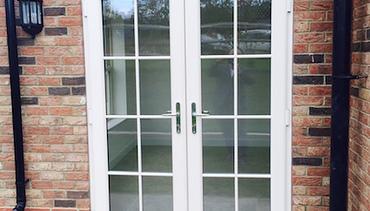 Cream Grained Wood Effect PVC-u French Doors