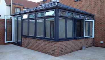 Modern Grey Pvc-u externally with White internally - Conservatory