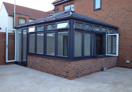 Modern use of colour Pvc-u options - grey externally & white internally