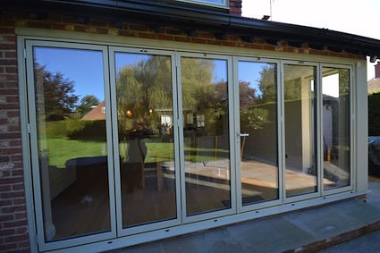 Bifolds in Putty colour