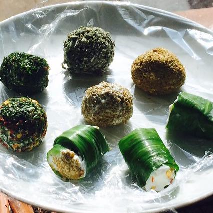 Wild garlic labneh
