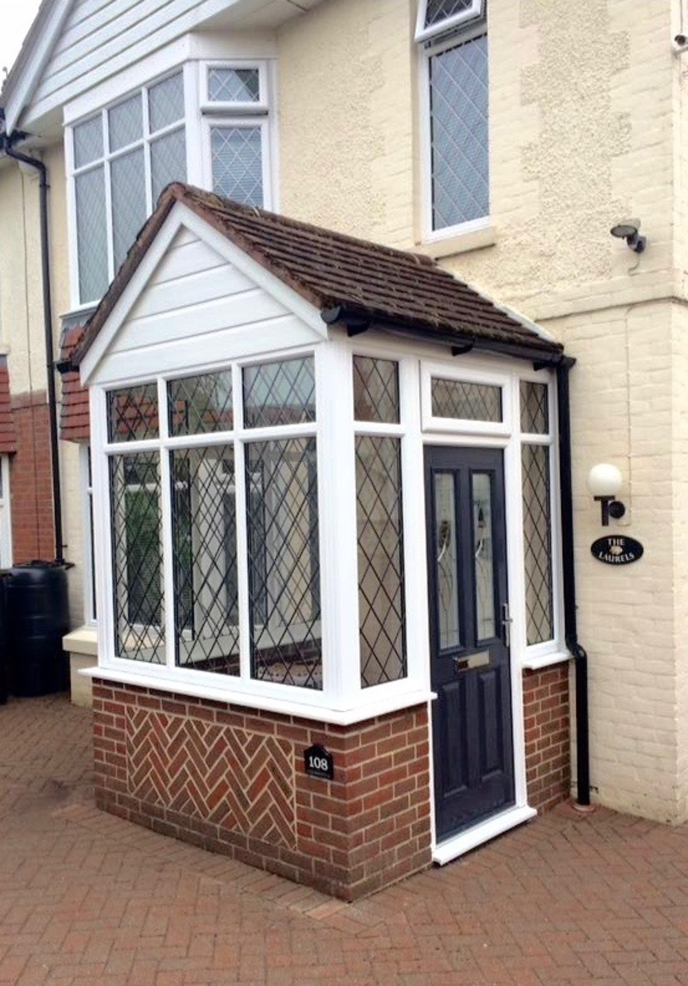 Porches products bjh windows and conservatories for Double glazed porch doors