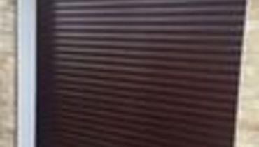 Rosewood Roller Shutter Garage Door