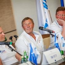 Skippers talk tactics at press conference