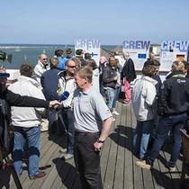 Prize giving action at Warnemunde