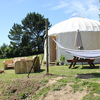 Yurt outside dining
