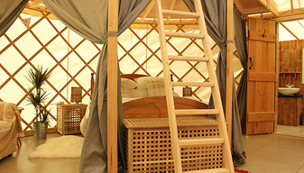 Yurt bedroom