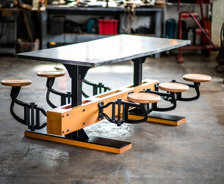 Indy Swing Arm Stool Table