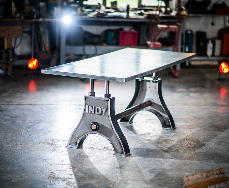 Indy Table Thin Zinc Top