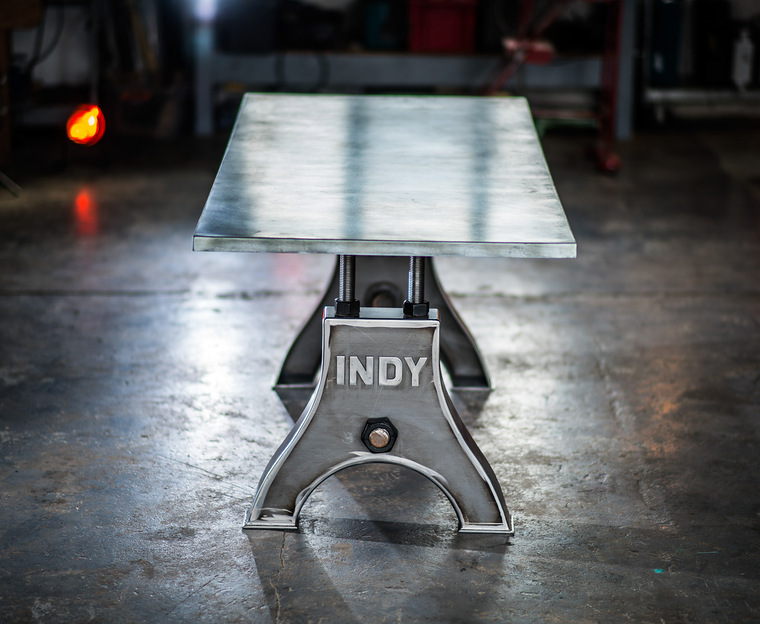 Indy Table Thin Zinc