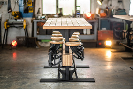 Indy Swing Arm Stool Table Seats Folded