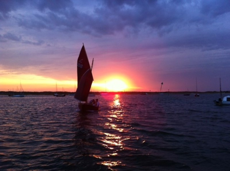 West Wittering Sailing Club : Coble's return from supper at HISC