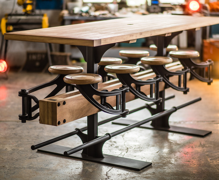 Indy Swing Arm Stool Table Extra High