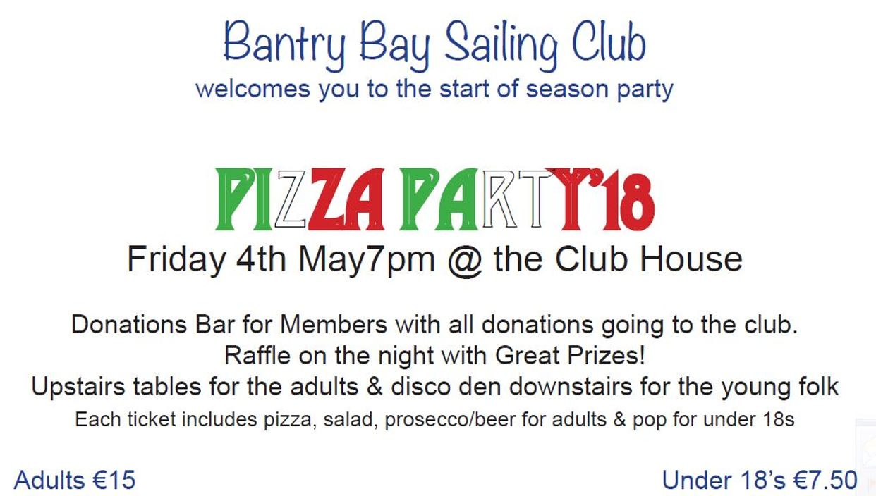 2018 Start of Season Party - Bantry Bay Sailing Club