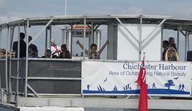 (C) Paul Adams 170708DSC_0148+ Sea Scouts on Solar boat 9.jpg