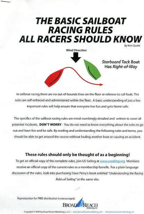Axe Yacht Club : Basic Racing Rules