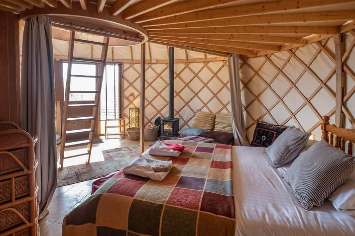 Yurt Bonnie bed view.JPG