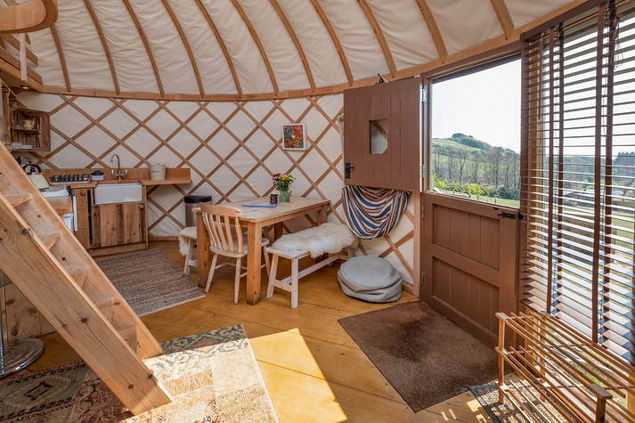 Yurt Bonnie Kitchen and dining.JPG