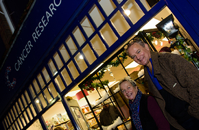 Hugh Bonneville with Gold Winner Cancer Research UK.jpg