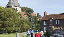 Paul Adams 160928FDC_9846 Bosham Church with walkers.jpg