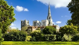 Cathedral from Bishop's Palace Gardens2.jpg
