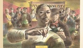 Barnett Freeman, The Darts Champion, 1956, colour lithograph_2.jpg
