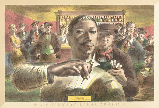 Barnett Freeman, The Darts Champion, 1956, colour lithograph_2.jpg
