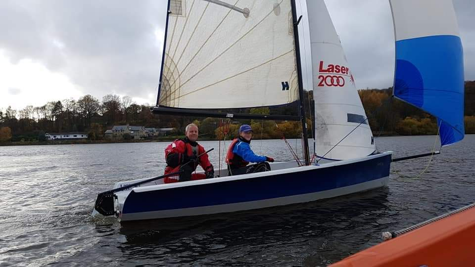 Instructor and Student on a boat