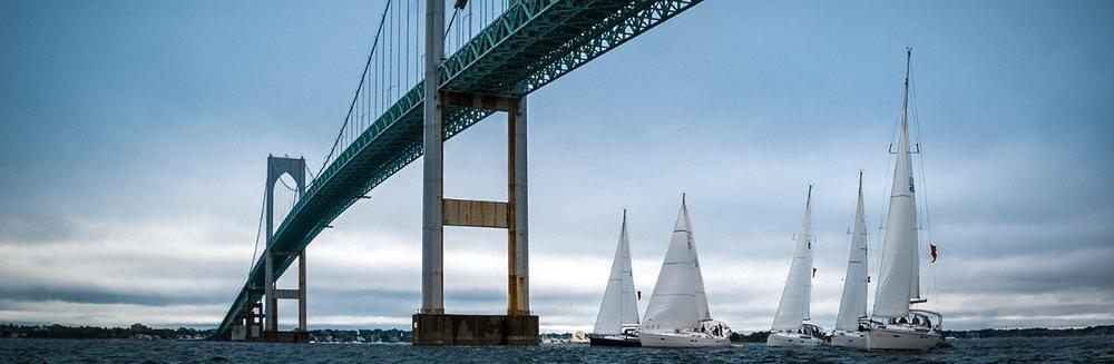 Sailing Under Newport Bridge