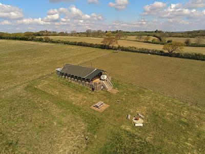 view over Glamping the Wight Way lodge - image credit Lentil Marketing