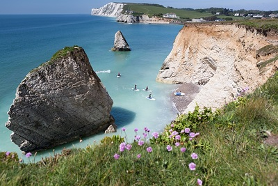 view over Freshwater Bay, Isle of Wight
