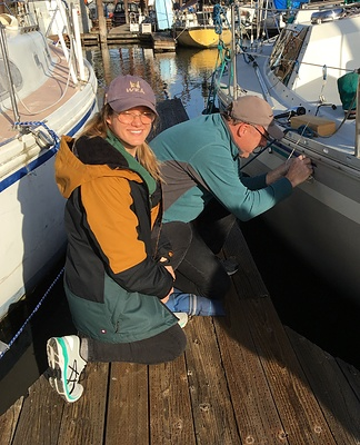 Skipper Brian Robbins working with an OWSA member